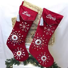 Personalised Velvet Christmas Stockings | Personalised Christmas ...