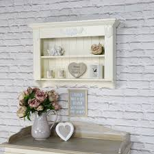 details about ornate cream painted wood display shelves vintage country cottage storage shelf
