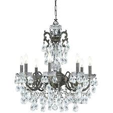 8 light crystal chandelier legacy bronze 8 light crystal chandelier robertville 8 light crystal chandelier