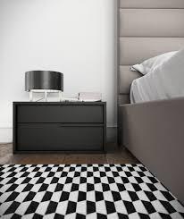black lacquer nightstand contemporary  modern contemporary