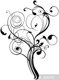 Fototapeta Vinylová Ornament Květinové Tetování Baum