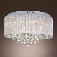 custom made translucent shade 17 7 wide flush mount with splendid stainless steel canopy beautifulhalo com