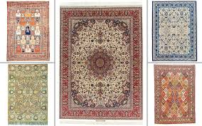 clockwise from top left a silk tabriz rug north west persia circa 1880