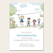 Photo Party Invitations Personalised Kids Birthday Invitations Adventure Party