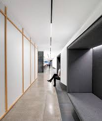 uber office design. Studio O+A Designs HQ For Uber | Seating Niches Face A Training Room\u0027s Exterior Of Gypsum Board Framed In Douglas Fir. Divina Melange By Maharam. Office Design R