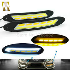 Diy Running Lights Us 9 49 50 Off 2pcs 100 Waterproof Ultra Thin 20w 26cm Cob Chip Led Daytime Running Light Led Diy Drl Fog Car Lights Car Day Running Lights In Car