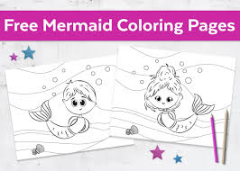 Free Mermaid Coloring Pages Boy Girl With Wpvoteme
