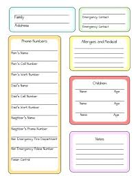 Nanny Notes Template Guardians Designs Daily Activity Log Tips And