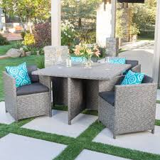 wicker patio dining furniture. Palm Harbor 5 Piece Wicker Patio Dining Furniture Set Ideas