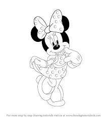 Small Picture How To Draw Mini Mouse Minnie 01png Coloring Pages Maxvision