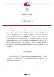 La Société Cours Philosophie Gratuit Bac L