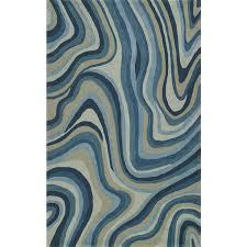addison zenith contemporary waves blue grey area rug
