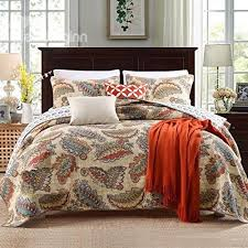 6941 best Bedding Sets & Collections images on Pinterest | Bedding ... & Luckey1 Cotton Queen Size Quilt Sets Bedspread and Quilt Bedding Sets Queen  Size 3 Pieces 1 Adamdwight.com