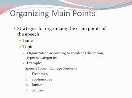Speech Organizational Patterns Mesmerizing Organizational Patterns For Speeches
