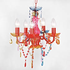 5 light chandelier gypsy colored boho stunning retro crystals ceiling lamp new plastic chandeliers