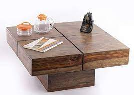solid sheesham wood coffee table centre