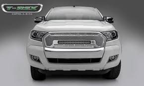 t rex ford ranger t6 torch series main replacement grille w replacement grille w one 20 inch slim line single row led light bar polished stainless steel includes universal wiring harness part 6315760