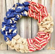 patriotic wreaths for front doorPatriotic Decorations How to Make a Burlap Wreath