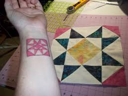 Pink Padme Designs: U.S.A., New Tattoo and Giveaway!! & I wanted to have a wrist tattoo of something I absolutely love, quilting!!! Adamdwight.com