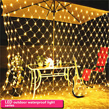Fishing String Lights Us 7 65 15 Off 1 5 1 5m 96 Led String Lights Net Christmas Lights Fishing Net Lights Outdoor Waterproof And Decorative Wedding 220v Eu Plug In Led