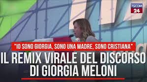 Il remix virale del discorso di Giorgia Meloni - Video Tgcom24