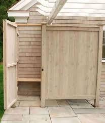 outdoor shower kit cedar enclosure designs ideas kits pvc id