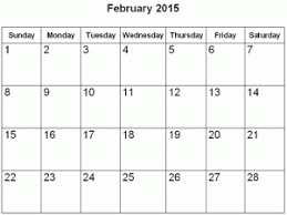 february 2015. Plain February February 2015 Activity Calendar On E