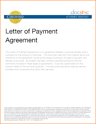 8 Pay Agreement Template Letter Template Word