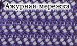Что такое мережка в вязании