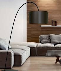uplighter floor lamp glass shades stylish long reach floor lamp with drum shade two finishes construction