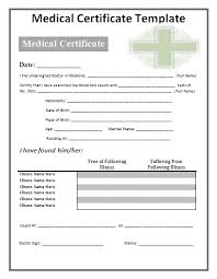 Medical Certificate Samples 24 Free Printable Word Pdf