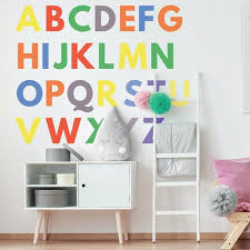 large colourful alphabet wall stickers