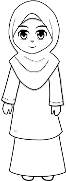 Muslim Kids With Mother Coloring Pages