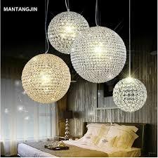 crystal chandelier pendant light lamp chandelier modern k9 crystal ball fixture lighting led droplight for bar restuarant dining room modern hanging lights