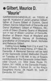 Maurice Duane Gilbert Obituary 21 July 2003 - Newspapers.com