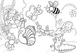 Small Picture Insect Coloring Pages Pdf At glumme