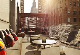 Living Room Bar W Hotel 7 Best Rooftop Bars In Nyc
