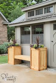 planter box bench diy free plans