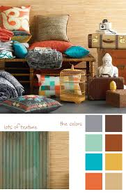 Teal And Orange Bedroom Erin Ries Creativity Color Orangeteal And Neutrals