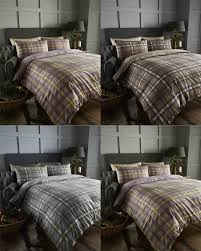 arran tartan 100 brushed cotton flannelette thermal duvet quilt cover bedding