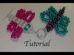 Beaded Keychain Patterns Simple Beaded Butterfly Keychain Tutorial YouTube