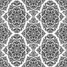 Barok Behang Zwart Wit