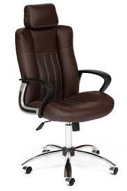 <b>Кресло OXFORD хром</b> кож/зам, коричневый/коричневый ...