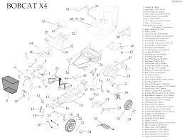 bobcat x transportable scooter drive medical parts diagram