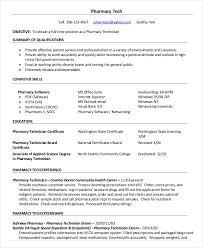 Pharmacy Tech Resume Template 10 Pharmacy Technician Resume Templates Pdf Doc Free