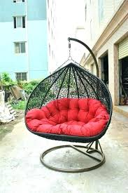 outdoor 2 person hanging chair furniture porch swing double hammock garden wicker rattan with two seats patio co cover