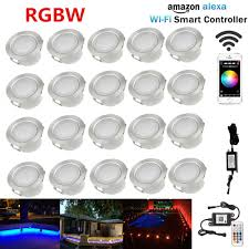 Us 171 99 20x Wifi Controller Timer 45mm 12v Rgb Rgbw Yard Terrace Led Deck Stair Soffit Step Lights For Alexa Googlehome Ifttt Phone App In Led