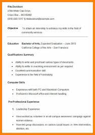 8 College Grad Resume Template Free Ride Cycles