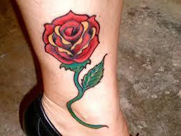36 Fancy Rose Tattoos On Leg
