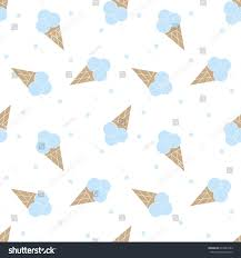seamless pattern with ice cream baby cartoon background good for birthday wallpaper